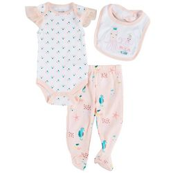 Baby Girls 3-pc. Octopus Footie Pants Set