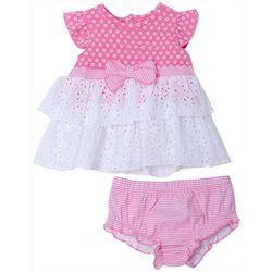 Cutie Pie Baby Baby Girls Short Sleeve  Eyelet Dress