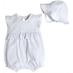 Baby Girls 2-pc. Solid Textured Romper set