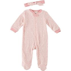 Chick Pea Baby Girls 2-pc. Polka Dot Footie Pajama Set
