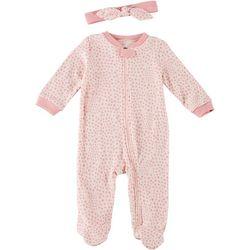 Baby Girls 2-pc. Polka Dot Footie Pajama Set