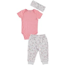 Kyle & Deena Baby Girls 3-pc. Butterfly Jogger Pant Set