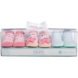 Baby Girls 3-pk. Star Fish Socks Set