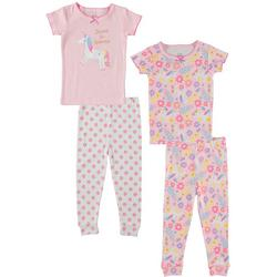 Baby Girls 4-pc. Dream Unicorn Pajama Set