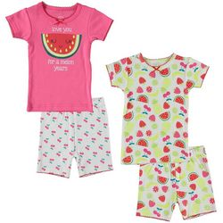 Cutie Pie Baby Baby Girls 4-pc. Watermelon Pajama