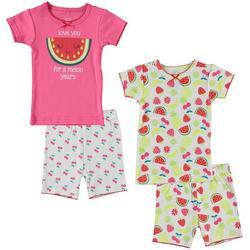 Baby Girls 4-pc. Watermelon Pajama Set