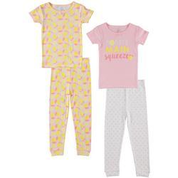 Baby Girls 4-pc. Lemon Pajama Set