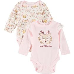 Kyle & Deena Baby Girls 2-pc. Sweet Little Deer Bodysuit Set