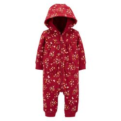 Baby Girls Floral Hooded Jumpsuit