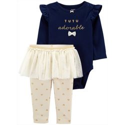 Carters Baby Girls Tutu Adorable Bodysuit Set