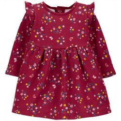 Carters Baby Girls 2-pc. Cozy Floral Dress