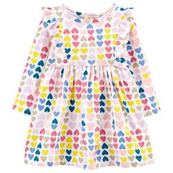 Carters Baby Girls Multicolor Heart Dress