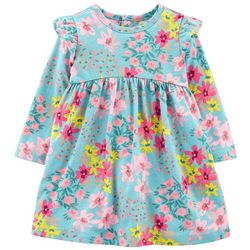 Carters Baby Girls Long Sleeve Floral Dress