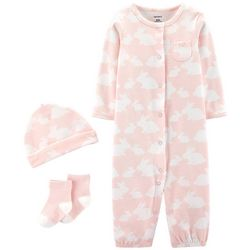 Carters Baby Girls 3-pc. Bunny Take Me Home Layette Set