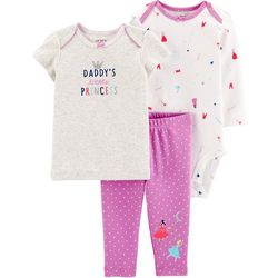 Carters Baby Girls 3-pc. Daddy's Princess Layette Set
