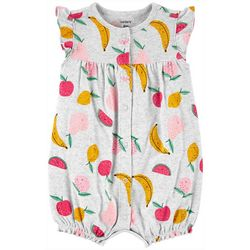 Carters Baby Girls Fruit Snap Up Romper