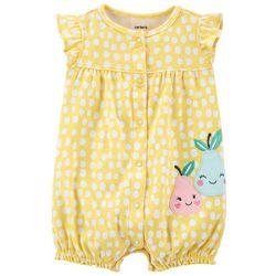 Carters Baby Girls Pear Snap Up Romper