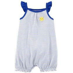 Carters Baby Girls Striped Sunshine Romper