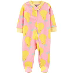 Carters Baby Girls Pear Footie Pajamas