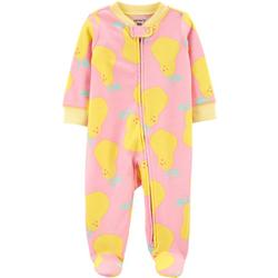 Baby Girls Pear Footie Pajamas