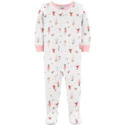 Baby Girls Ballerina Footie Pajamas