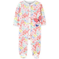 Carters Baby Girls Butterfly Footie Pajamas