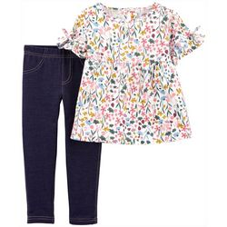 Baby Girls Floral Top & Leggings Set