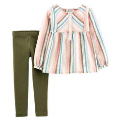 Carters Baby Girls Long Sleeve Multi Stripe Leggings Set