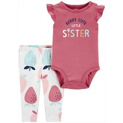 Baby Girls Berry Cute Little Sister Bodysu