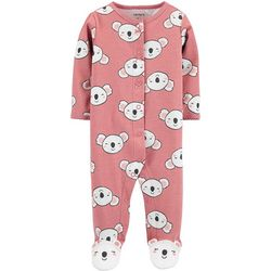 Carters Baby Girls Koala Feet Snug Fit Footie Pajamas