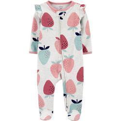 Baby Girls Strawberry Footie Pajamas