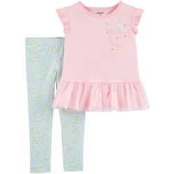 Carters Toddler Girls Bunny Peplum Top & Leggings