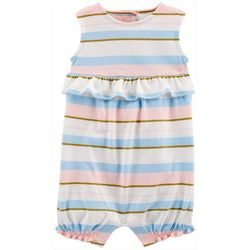 Carters Baby Girls Striped Ruffle Romper