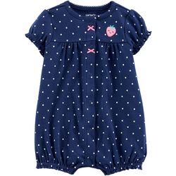 Baby Girls Polka Dot Strawberry Romper