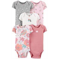 Baby Girls 5-pk. Floral Bodysuits