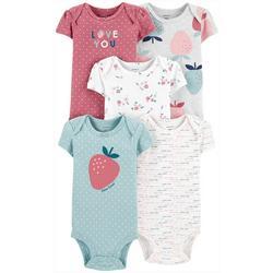Baby Girls 5-pk. Strawberry Bodysuits