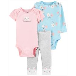 Baby Girls 3-pc. Beary Sweet Layette Set