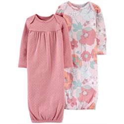 Carters Baby Girls 2-pk. Floral Sleep Gowns