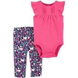Carters Baby Girls 2-pc. Unicorn Bodysuit Pant Set