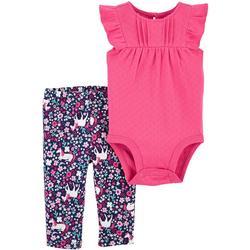 Baby Girls 2-pc. Unicorn Bodysuit Pant Set