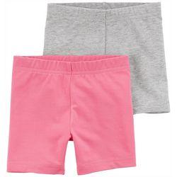 Carters Toddler Girls 2-pk. Solid Biker Shorts