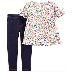 Toddler Girls Floral Top & Leggings Set