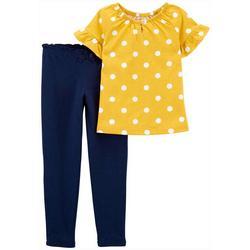 Toddler Girls Polka Dot Top & Pant Set