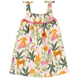 Carters Baby Girls Tiger Jungle Jersey Dress