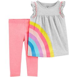 Carters Baby Girls Rainbow Leggings Set