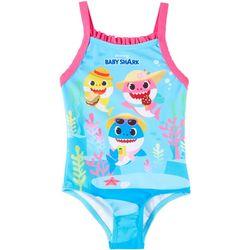 Baby Shark Baby Girls Picnic Swimsuit
