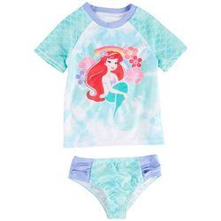 Disney The Little Mermaid Toddler Girls Ariel Rashguard Set
