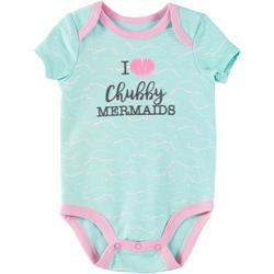 Baby Girls Cropped Shell Manatee Bodysuit