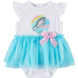 Chubby Mermaids Baby Girls Tutu Manatee Bodysuit