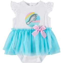 Baby Girls Tutu Manatee Bodysuit
